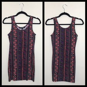 Forever 21 • Multicolor Tribal Print Bodycon Dress